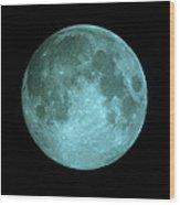 View Of Full Moon Wood Print