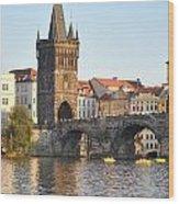 View Of Karluv Most Prague Wood Print