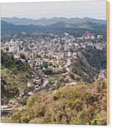 View Of Katra Township While On The Pilgrimage To The Vaishno Devi Shrine In Kashmir In India Wood Print