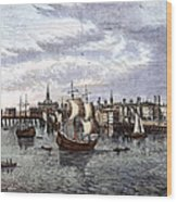 View Of London, 1550 Wood Print
