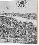 View Of London, 1647 Wood Print