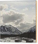 View Of Quill Creek In Kluane National Wood Print