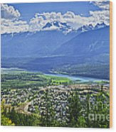 View Of Revelstoke In British Columbia Wood Print