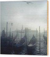 View Of San Giorgio Maggiore From The Piazzetta San Marco In Venice Wood Print