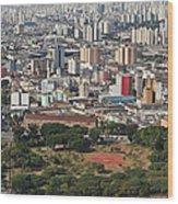 View Of Sao Paulo Skyline Wood Print