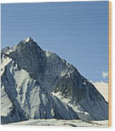View Of Snow-covered Mountain Ridges Wood Print