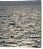 View Of Sunlit Waves On Open Water Wood Print