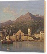 View Of Taormina Sicily Wood Print