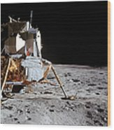 View Of The Apollo 14 Lunar Module Wood Print