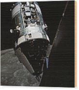 View Of The Apollo 17 Command Wood Print