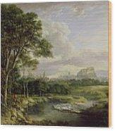 View Of The City Of Edinburgh Wood Print