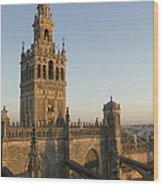 View Of The Giralda Tower Wood Print