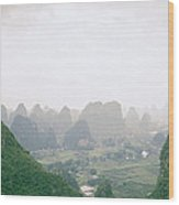 View Of The Guilin Mountains In Guangxi In China Wood Print