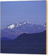 View Of The Himalayas Wood Print