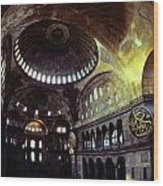 View Of The Interior Of Hagia Sophia Wood Print by James L. Stanfield