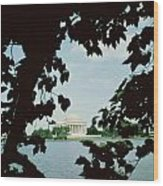 View Of The Jefferson Memorial Wood Print