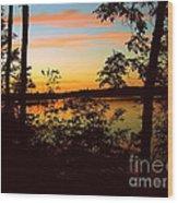 View Of The Lake Wood Print