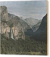 View Of The Mountain El Capitan Wood Print