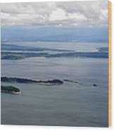 View Of The San Juan Islands From Mt. Constitution  Wood Print
