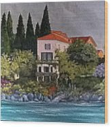 View Of Varenna Wood Print by Linda Scott