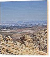 View Of Vegas Wood Print