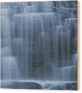 View Of Water Cascading Wood Print