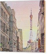 View On Eiffel Tower From Rue Saint Dominique Paris France Wood Print