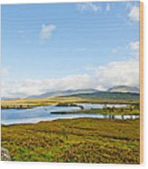 View Over Loch Ba Wood Print