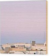 View Over Rooftops Kairouan, Tunisia Wood Print