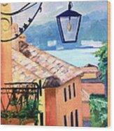 View To Lake Como Wood Print