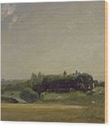 View Towards The Rectory - East Bergholt Wood Print