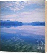 Vignette Lake Pend Orille  Wood Print