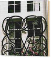 Viking Window  Wood Print