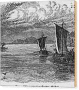 Vikings: North America Wood Print