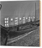 Vikingship Wood Print