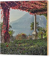 Villa Cipressi Pergola On Lake Como I Wood Print