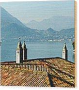 Villa Monastero Rooftop And Lake Como Wood Print