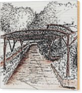 Villa Rufolo Pergola Wood Print