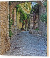Village Lane Provence France Wood Print