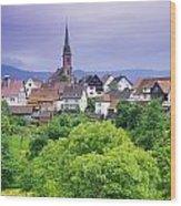 Village Of Rottelsheim, Alsace, France Wood Print
