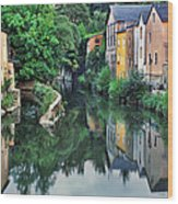 Village Reflections In Luxembourg II Wood Print