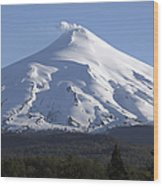 Villarrica, Steaming Crater, Araucania Wood Print
