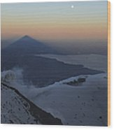 Villarrica, Summit View With Shadow Wood Print