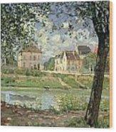Villeneuve La Garenne Wood Print by Alfred Sisley