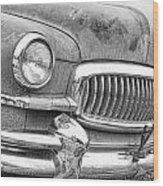 Vintage 1951 Nash Ambassador Front End 2 Bw Wood Print