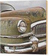 Vintage 1951 Nash Ambassador Front End Wood Print