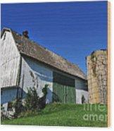 Vintage American Barn And Silo 1 Of 2 Wood Print