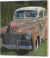 Vintage Automobile No.0488 Wood Print