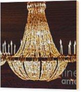 Vintage Ballroom Chandalier Fractal Wood Print