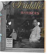 Vintage Barbershop 2 Wood Print